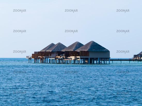 Water bungalows at maldives