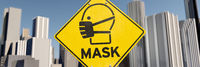 Mask sign in the city