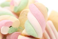 Background of colorful marshmallows candy.