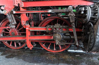 Drive rods of a steam locomotive
