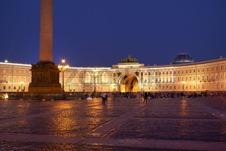 St. Petersburg Russia. The General Staff Building - Hermitage Museum