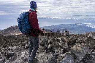 Senior Hiker on Mountain Top