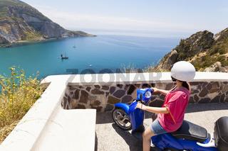 Landscape and coast of the Italian island Ponza