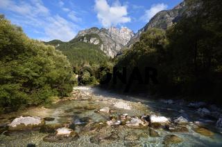 Wildbach Raccolana am Monte Cimone