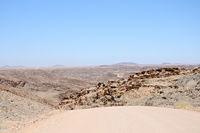 on the Gravelroad through the Kuiseb Pass Namibia