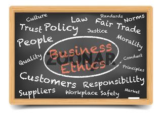 Wordcloud Business Ethics