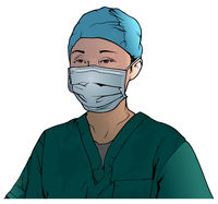 Healthcare Worker Wearing Medical Face Mask