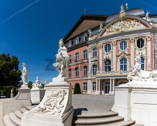 the palace at the Konstantin Basilica in the historic old town of Trier
