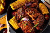 Rustic spare ribs from the oven