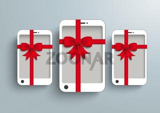 3 White Smartphone Red Gibbon Gift