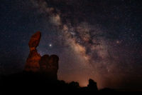 The Milky Way Over Balanced Rock, Arches National Park