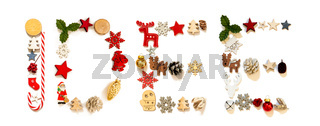 Colorful Christmas Decoration Letter Building Idee Means Idea