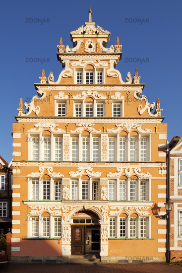 Buergermeister-Hintze-Haus, historical merchant and warehouse, Weser Renaissance, Stade, Germany