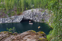 Marble Lake in Ruskeala Mountain Park - Karelia Russia