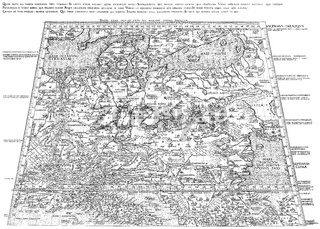 The oldest map of Germany, 1451, by Nicholas of Kues