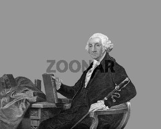 George Washington, 1732 - 1799, president of USA