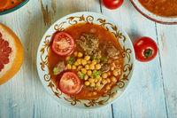 Algerian  berkoukes soup