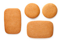 Gingerbread Cookies Rectangles And Circles