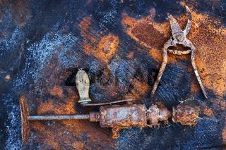 Bad storage of the iron tools