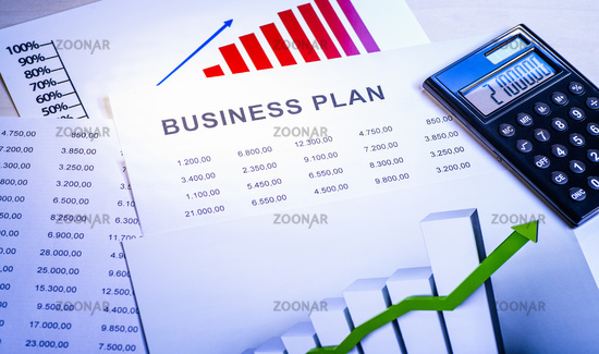 Business Plan with Tables, Diagrams and Calculator