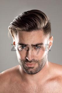 Portrait of a beautiful male model