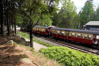 Brockenbahn im Bahnhof von Schierke