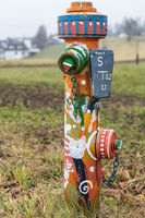 Colorful hydrant for water supply - water hydrant