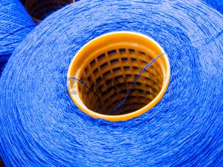 Blaues Garn
