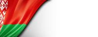 Belarus flag isolated on white banner