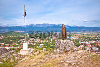 Town of Sinj view from historic fortress