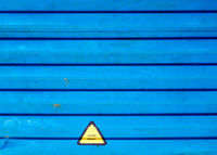 Super heavy truck Warning label stick at beside the truck container