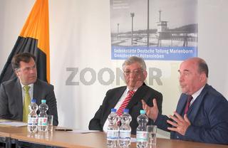 Stephan Dorgerloh (SPD) Kultusminister von Sachsen-Anhalt,Wolfgang Berghofer und Rainer Eppelmann