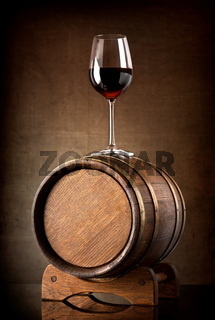 Wineglass  and barrel