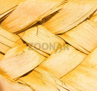 Yellow wicker background
