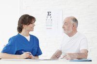 Vision test for senior patient