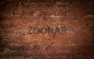Rustic red brown wood planks background with nice vignetting