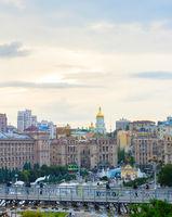 Independence square skyline Kiev Ukraine
