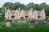 Witney St Mary's Green  Almshouses and Gravestones
