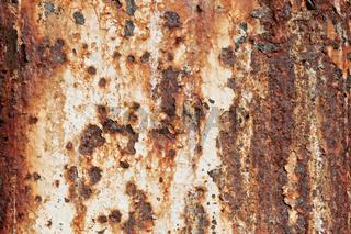 Metalloberfläche mit Rost und Farbresten