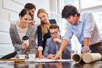 Start-Up Team bei Business Planung