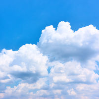 Blue sky with white heap clouds