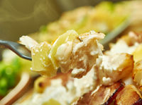 Smoked haddock potato gratin