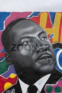 Martin Luther King Graffiti, Mauerpark Berlin