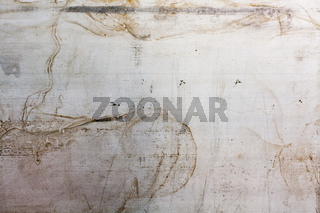 scratched rusty grunge metal sheets. abstract industrial background