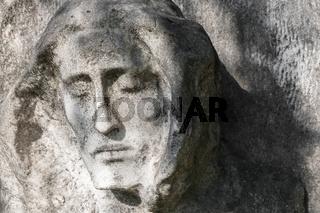 Antique stone statue of Jesus