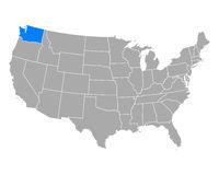Karte von Washington in USA - Map of Washington in USA