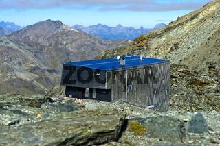 Berghütte Cabane de Tracuit, Zinal, Val d'Anniviers, Wallis, Schweiz