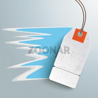 White Fastest Price Sticker Silver Background PiAd