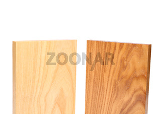 Top two wooden plank close-up