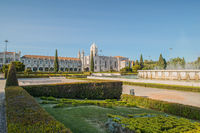 Mosteiro dos Jeronimos, located in the Belem district of Lisbon, Portugal.
